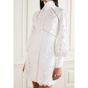 ZIMMERMANN White Super Eight Embroidered Linen